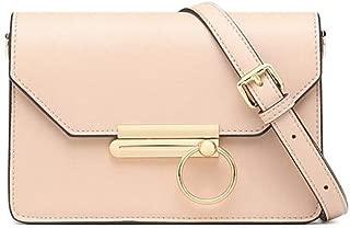 FengheYQ Women's Bags Cowhide Crossbody Bag Zipper Black/Beige/Brown Fashion Casual Size:21 * 8 * 14cm (Color : Beige)