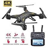 XIAOKUKU Rc Quadcopter, 1080P Pieghevole GPS Drone Supporta One-Click di Ritorno, la modalità Senza...