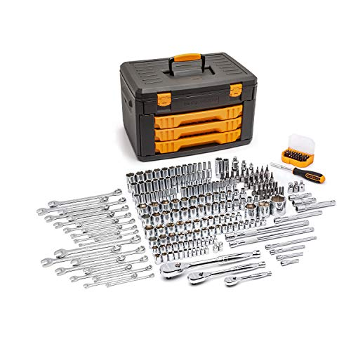 GEARWRENCH 80966 243 Pc. 6 Pt. Mechanics Tool Set In 3 Drawer Storage Box