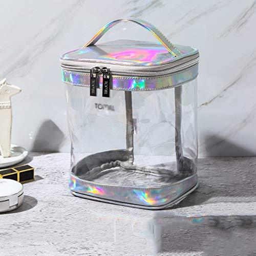 TYYW LHYOZ Trousse De Toilette Grande Capacité Trousse De Rangement for Cosmétiques, Soins De La Peau Et Plastique Sac cosmétique (Color : Silver)