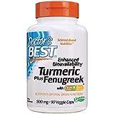 Doctor's Best Enhanced Bioavailability Turmeric-Curcumin Plus Fenugreek, 90 Count