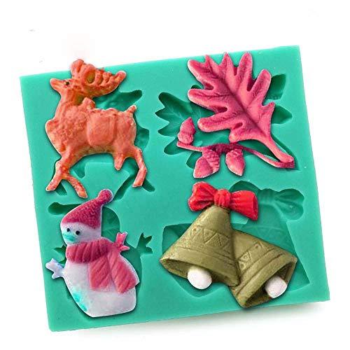 DACCU DIY siliconenvormen voor het versieren van Kerstmis Nieuwjaar cadeau dessertvorm handgemaakte zeep chocolade kaars vorm S0450SD25