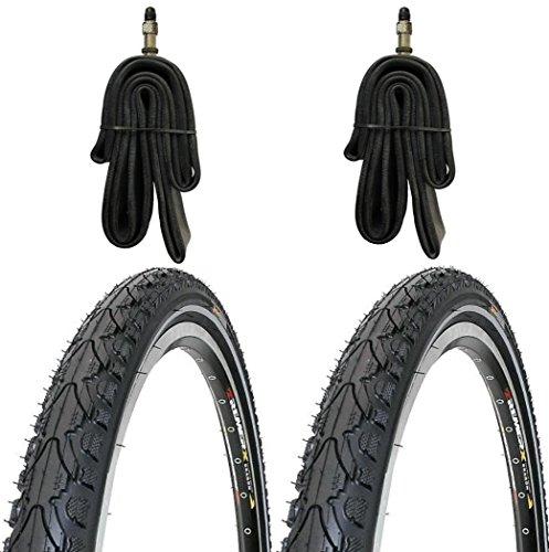 KENDA 2 x Reifen Fahrradreifen Pannensicher 28 Zoll 42-622 40C inklusive 2 x Schlauch mit Dunlopventilen