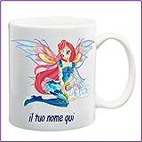 My Cust Tazza Mug Winx,Fata Bloom, Personalizzata con Nome Frase O Foto - Idea Regalo