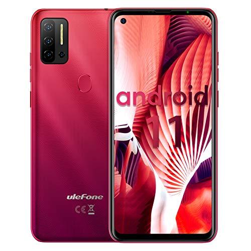 "Telefono movil Ulefone Note 11P Android 11 teléfono móvil 6.55"", 8GB + 128GB, 4400mAh Baratos Smartphone, cámara 48MP + 8MP + cámara 2MP, Ranura para 3 Tarjetas, Huella Digital, 4G Dual SIM (Red)"