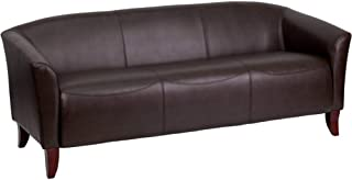 Offex Hercules Imperial Series Leather Sofa, Brown