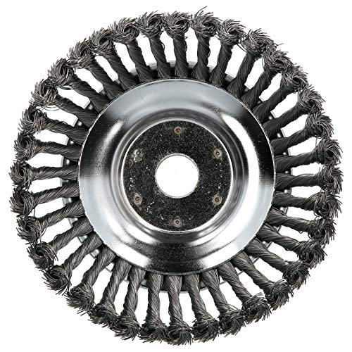 8in tondeuse tête de brosse à mauvaises herbes fil d'acier universel roue de désherbage tondeuse à gazon jardinage accessoire de soin de pelouse pièces de tondeuse à gazon