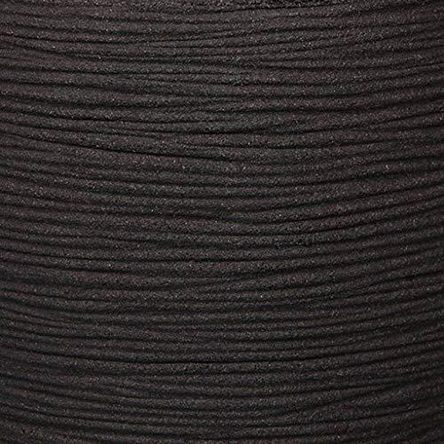 Capi kblr932Nature Übertopf Ball Rib, schwarz, 88,9x 86,4cm