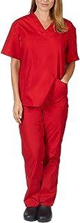 Ensemble Uniformes Unisexe Blouse - Uniforme Médical avec Haut et Pantalon - Uniforme Médical à Manches Courtes Vêtements ...