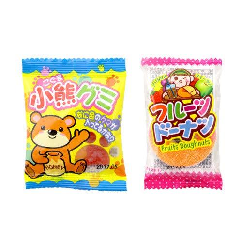 やおきん 小粒のかわいい小熊グミとドーナツ型のフルーツドーナツグミセット おかしのマーチ