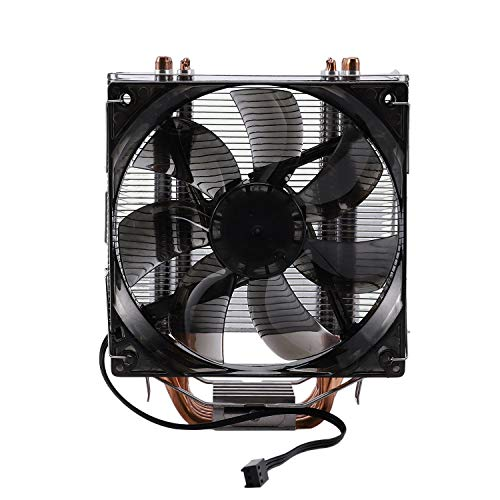 Mogzank CPU Cooler 12Cm Fan 6 Copper Heatpipes 3Pin Radiator Single Fan Cooling Cooler con LED para LGA 1150/1151/1155/1156/1366/775/2011