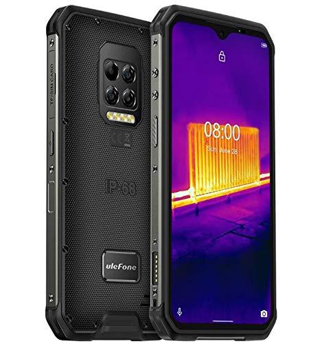 Ulefone Armor 9 Smartphone Resistente FLIR® Termocamera, Fotocamera 64 MP, Android 10 Rugged Telefono Cellular IP68, Helio P90 Octa-core 8 GB di RAM 128 GB, FHD + da 6,3 '', NFC, GPS DUAL SIM