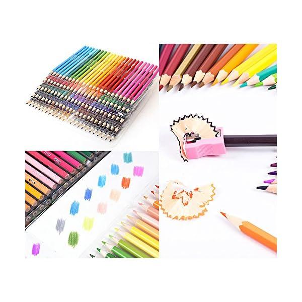 WCOCOW 120/160 lápices de colores, estuche de lápices de colores para colorear para adultos Libros, artistas y…
