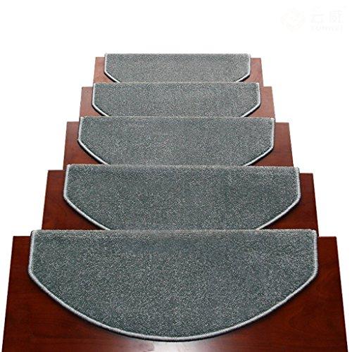 Tappeti scale2 BBYE Extra Spesso Stair Carpet Libero Autoadesive Antiscivolo Solido della Famiglia di Legno Passaggio Pad (Colore : # 3, Dimensioni : 90 * 24cm-B)
