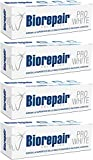 Biorepair:'Pro White' Whitening Toothpaste with microRepair - 2.5 Fluid Ounce (75ml) Tubes (Pack of 4) [ Italian Import ]