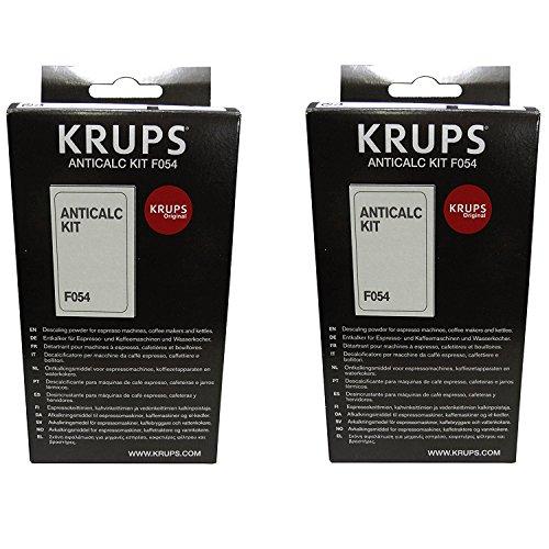 Krups Anticalc Kit* F054 Entkalker, Kalkreiniger, Kalkentferner, 2er Pack