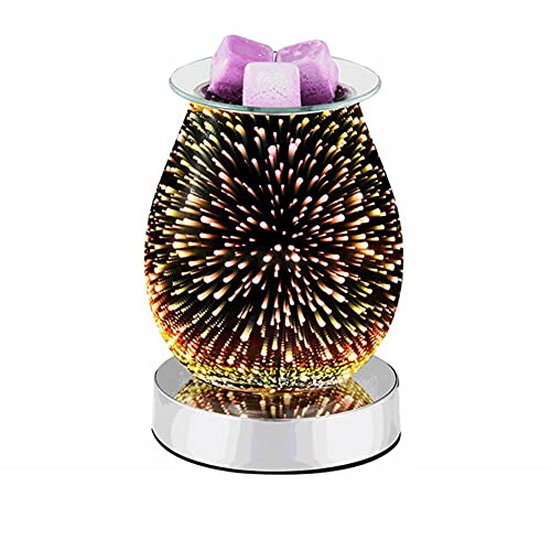 Winnie 3D - Lámpara de noche táctil, diseño de tarta, aromaterapia, calentador de cera para decoración de aroma eléctrico