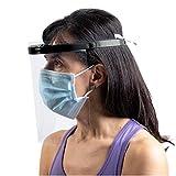 Visiera Protettiva trasparente. Maschera protettiva certificata paraschizzi/parafiato per dentista, parrucchiere. Visiera protettiva individuale. Maschera plexiglass copriviso e mascherina