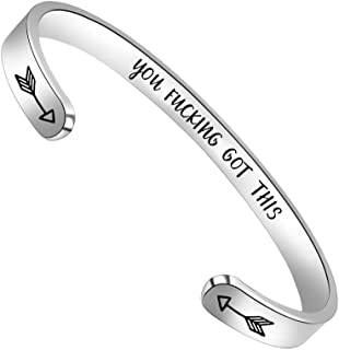 Inspirational Bracelets for Women Men Cuff Bangle...