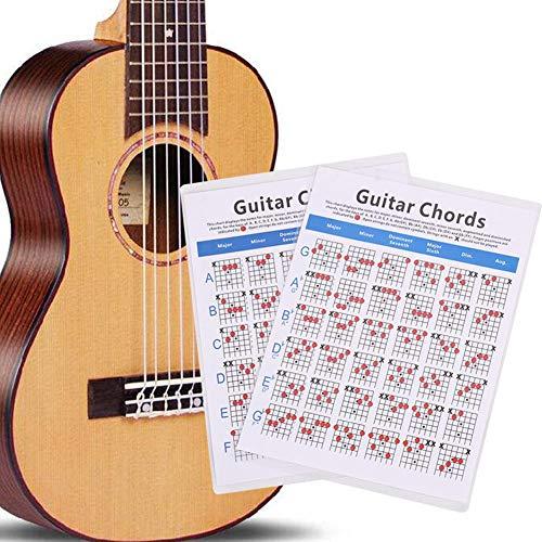 Klassieke gitaarakkoorden poster, een perfecte gitaar referentie poster voor iedereen die de gitaar leert of onderwijst