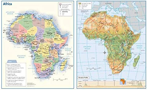 Columbus Mall Africa Political Physical Continent Max 56% OFF Map x - 17