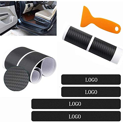 XHULIWQ 4 STÜCKE Auto Kohlefaser Aufkleber Einstiegsleiste Abdeckung Schutz, für Land Rover Discovery 3 4 2 Freelander 2 1 Evoque Velar