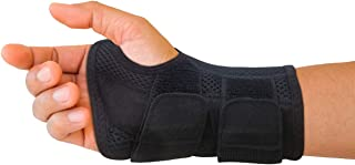 Carpal Tunnel Wrist Brace for Men and Women - Day and Night Therapy Support Splint for Relief of Arthritis, Wrists, Arm, Thumb and Hand Pain - Adjustable Straps (Right Hand - Large-XL)