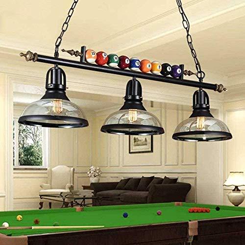 SGRMYS Billardlampe Kronleuchter Billardtisch amerikanischen Anhänger Land loftstil Retro kreativen Billard-Lampe Eisen-Lampe,A