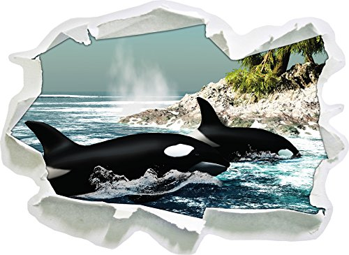 Orcas Island avant, papier 3D sticker mural taille: 62x45 cm décoration murale 3D Stickers muraux Stickers