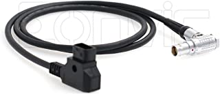 eonvic D-Tap macho a ángulo recto hembra 1B de alimentación cable para red Scarlet & Epic