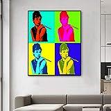 FPUYB Andy Warhol Trabaja Audrey Hepburn Pop atiWooden Puzzle 1000 Piezas 75x50cm Adecuado para Juegos Familiares, Castillos, Historia, Atracciones, excursiones, Parques