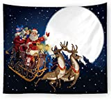 xkjymx Tela Colgante Tela Decorativa Navidad Estampado Tapiz Imagen 11 150X150cm