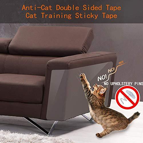 Pet krasbeschermer, 8-pack transparante hond kat klauw beschermers zelfklevende kat krasbeschermers kat hond krasbescherming huisdier bank beschermer 17