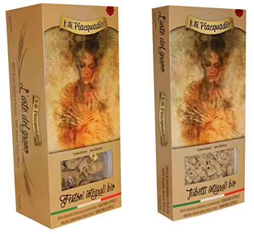 n.8 x 500g Pasta INTEGRALE BIO Senatore Cappelli: n.4 Tubetti- n.4 Festoni