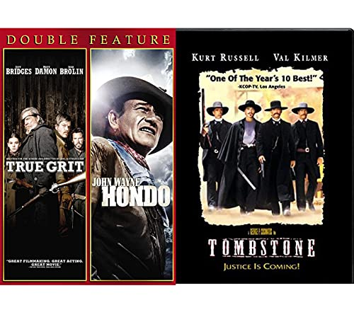 Doc Delivers Justice Holiday - Tombstone DVD Western Movie + True Grit & Hondo Outlaw pack