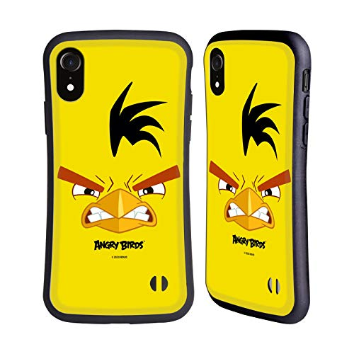 Head Hülle Designs Offiziell Offizielle Angry Birds Chuck Volles Gesicht Hybride Handyhülle Hülle Huelle kompatibel mit Apple iPhone XR
