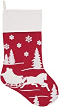 C&F Home Sleigh Ride Stocking 2 Stocking Red