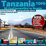 ★ Tansania Tanzania Topo GPS Kar...