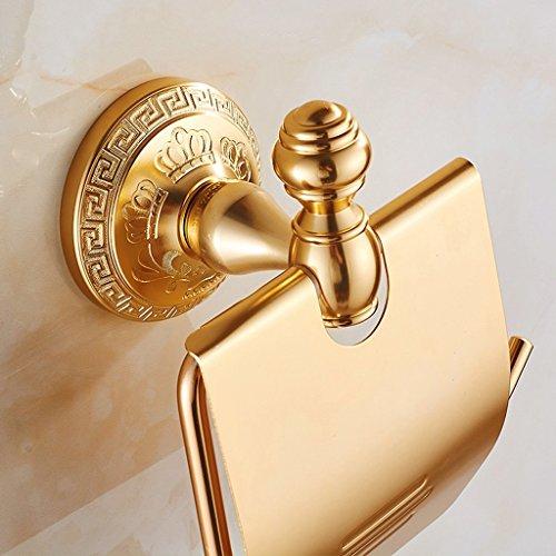 MZXUN Aluminio de Oro del Espacio del Rollo de Papel Titular sostenedor de la Toalla sostenedor de Papel higiénico de Papel higiénico Titular de Papel higiénico Titular