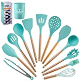 WSJ Silicone Kitchen Utensil Set Cooking Utensils for Cooking and Baking Heat Resistant Nonstick for Cooking for Cooking and Baking