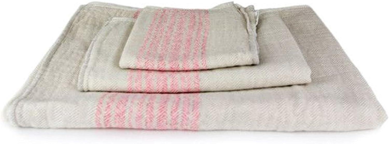Kontex Organic Cotton Towels From Imabari, Japan - Pink Beige (Set of 3 Towels)