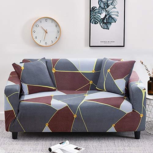 WXQY Funda de sofá geométrica elástica Funda de sofá elástica, Utilizada para la sección de la Sala de Estar, Funda de sofá, Funda de Esquina, Funda de sofá A24 de 3 plazas