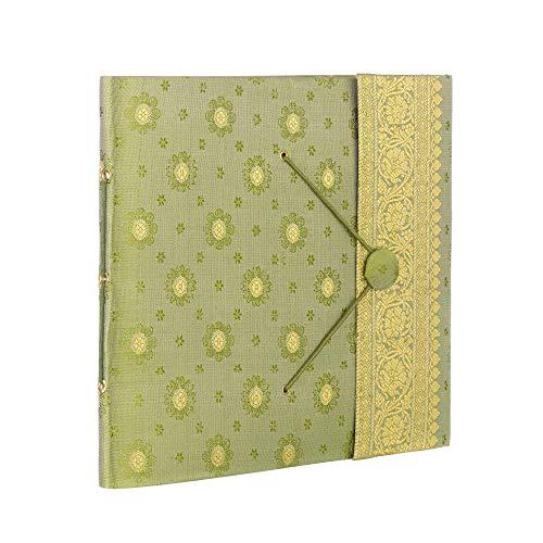 Paper High Fair Trade Fotoalbum Sari 240 x 260 mm groß - grün