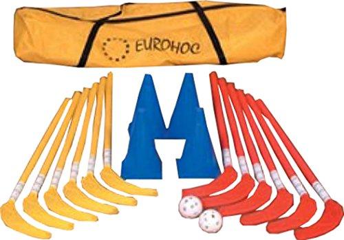 Eurohoc Junior Indoor Hockey Sticks Zapfen Bällen und Tasche Komplett Training Set