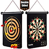 Rollup Magnetic Dart Board for Kids and Adults with 6pcs Safe Darts, Best