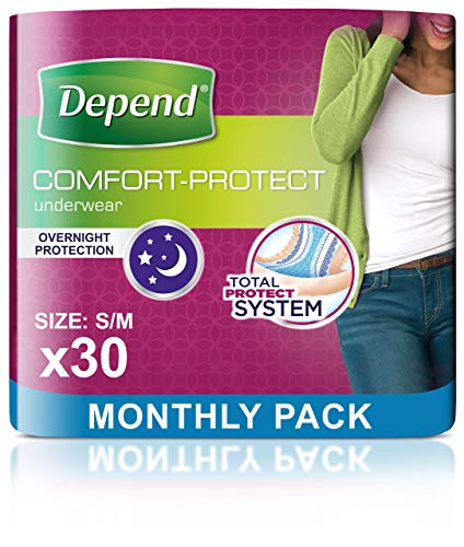 Depend Comfort Protect Incontinence Pants for Women, Small/Medium - 30...