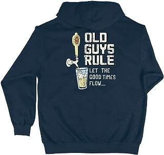 Hooded Sweatshirt for Men | Let The Good Times Flow | Pullover Hoodie | Heather Indigo
