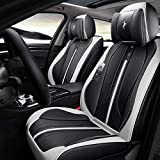 Protection de siège auto Set Completo de ajuste universal 5 asientos de coche rodeado Asientos de Piel impermeable de las cubiertas cojines del asiento protector extraíble Auto Ensembles de housses de