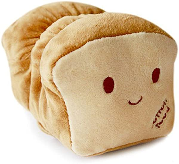 6 Dual Face BREAD Nap PILLOW Wrist Cushion Fluffy Plush