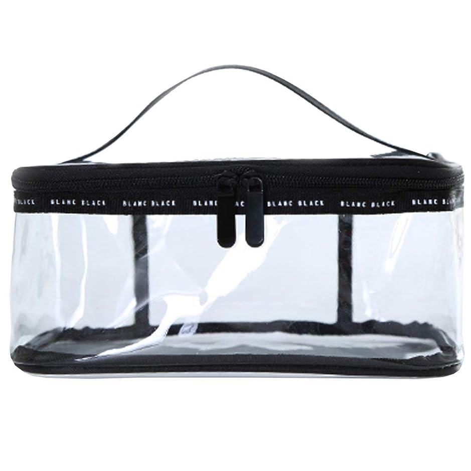 吹きさらしウィスキー東ティモールクリアボックス コスメ 収納 クリアポーチ 透明ポーチ ビニールポーチ PVC 化粧ポーチ 小物入れ 防水 (M)